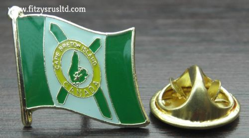 Cape Breton Island Flag Lapel Hat Cap Tie Pin Badge le du Cap-Breton Brand New